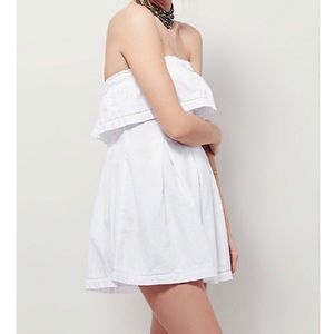 Free People Frills &Thrills White Strapless Romper